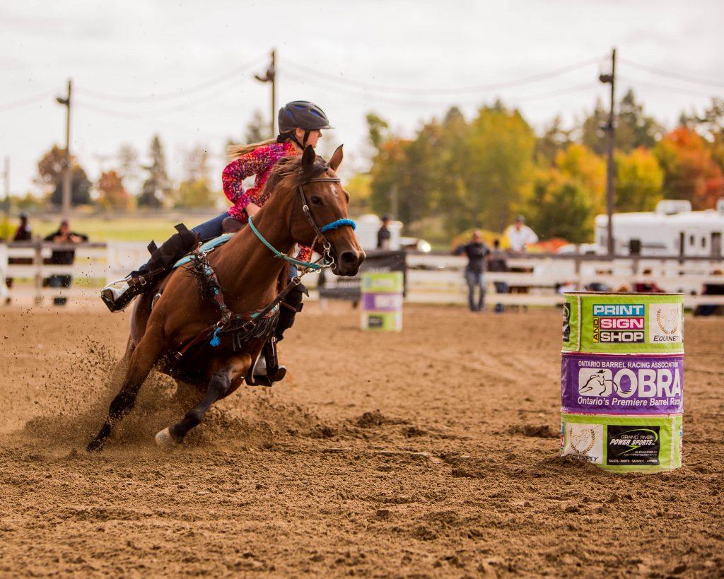 Faith riding horse