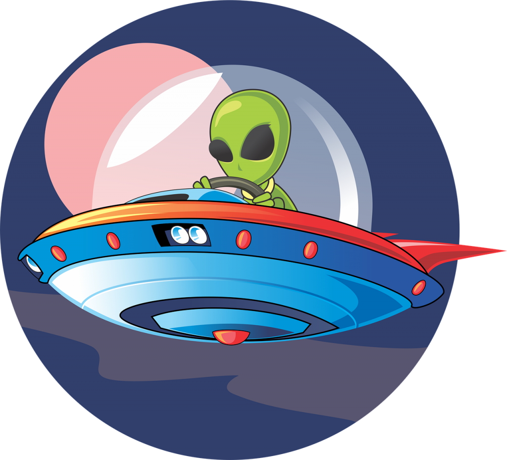 alien, ufo, spaceship