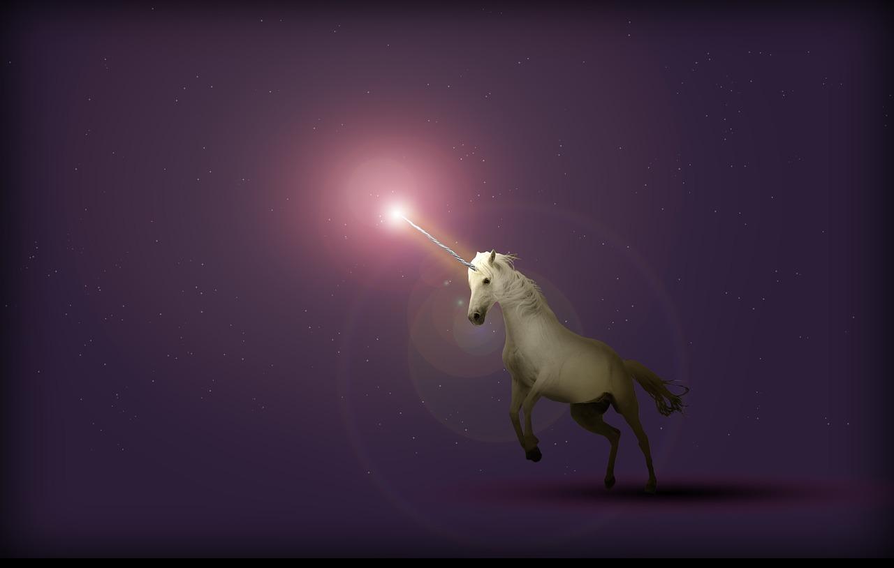 purple, unicorn, light