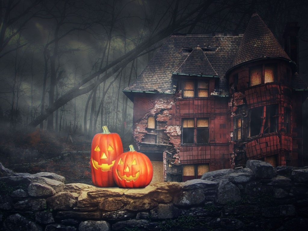 halloween, pumpkin, ghosts