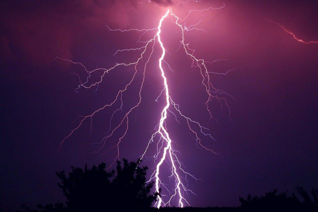 thunder, thunderstorm, purple